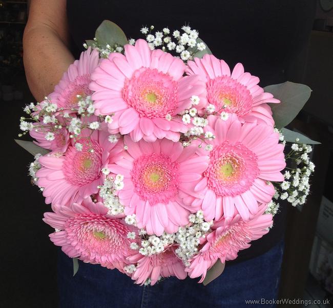 Gerbera Flower Wedding Bouquets: Oversized Wedding Bouquet Which Includes: White Gypsophila