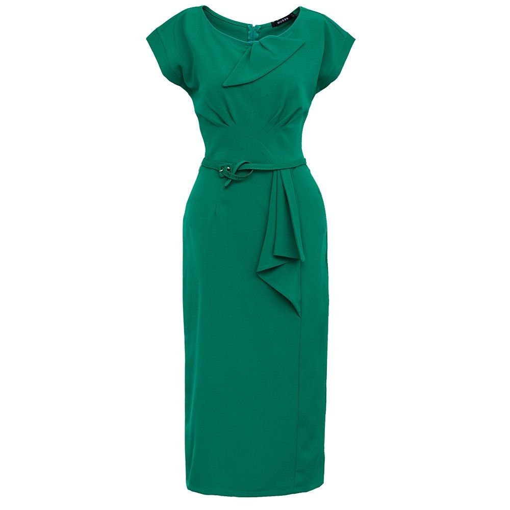 Muxxn Women 50s Vintage Bodycon Party Dress Green With Belt At Amazon Women S Clothing Store Bodycon Dress Parties Dresses Green Dress [ 1000 x 1000 Pixel ]