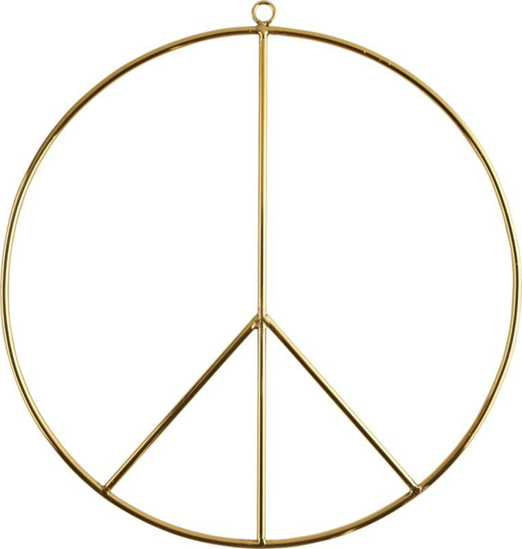 Wire Peace Sign Wall Art Not A Bad Message To Have