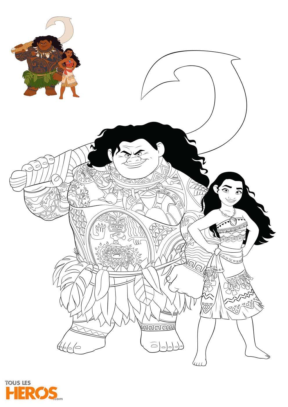 Coloriage Vaiana gratuit  imprimer viana moana coloriage Malvorlagen Kids Pinterest