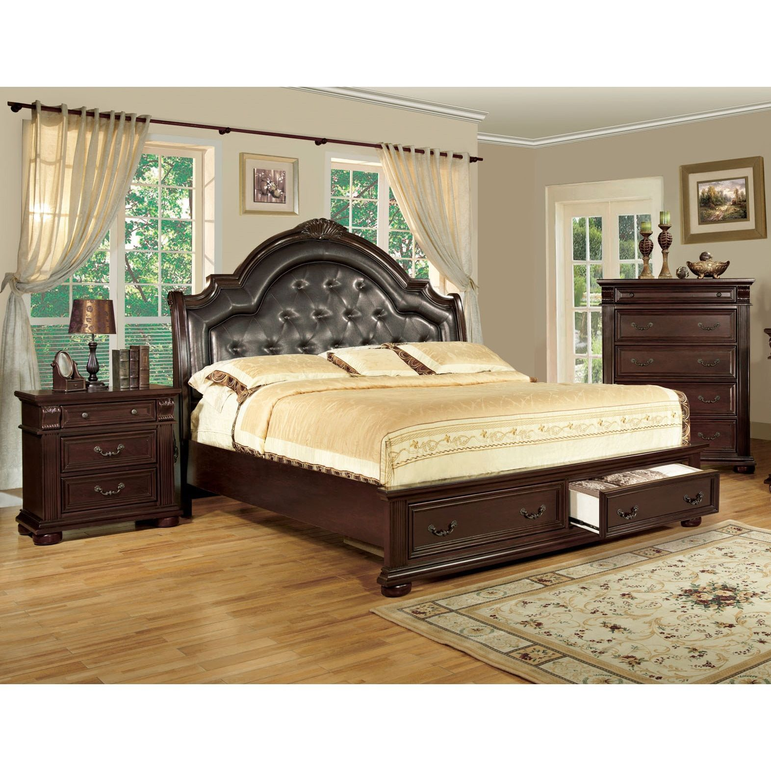 Lauretta Traditional Brown Cherry 2-piece Bedroom Set | Products ...