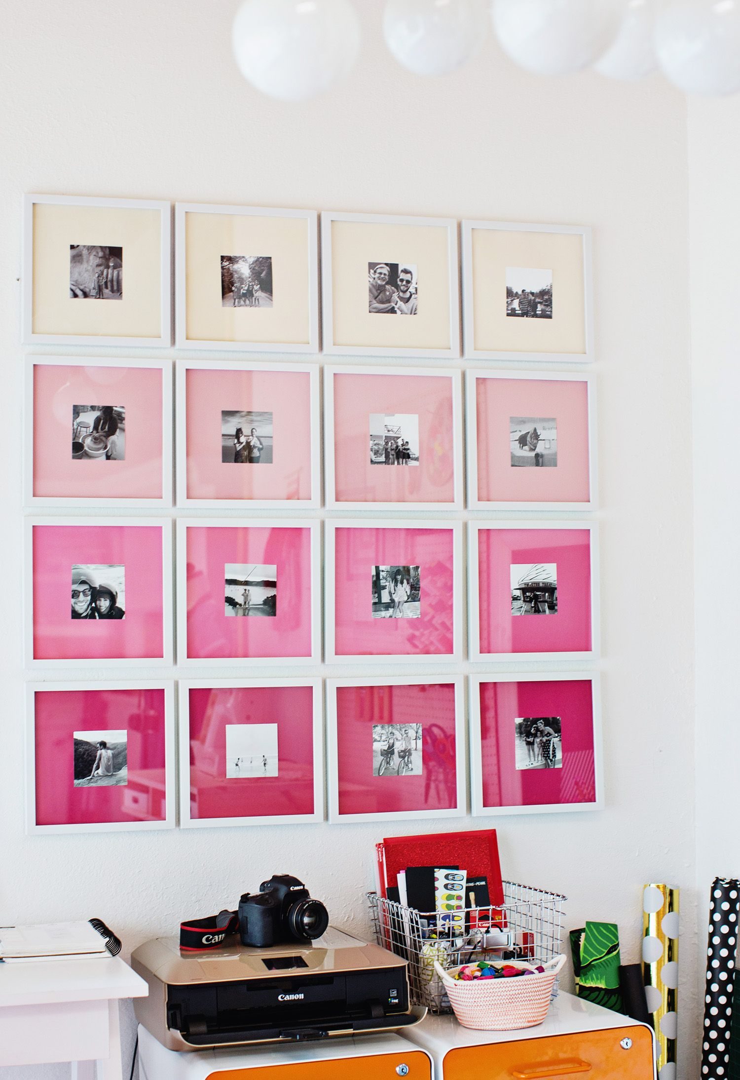 Diy ombre gallery wall make it pinterest gallery wall ombre