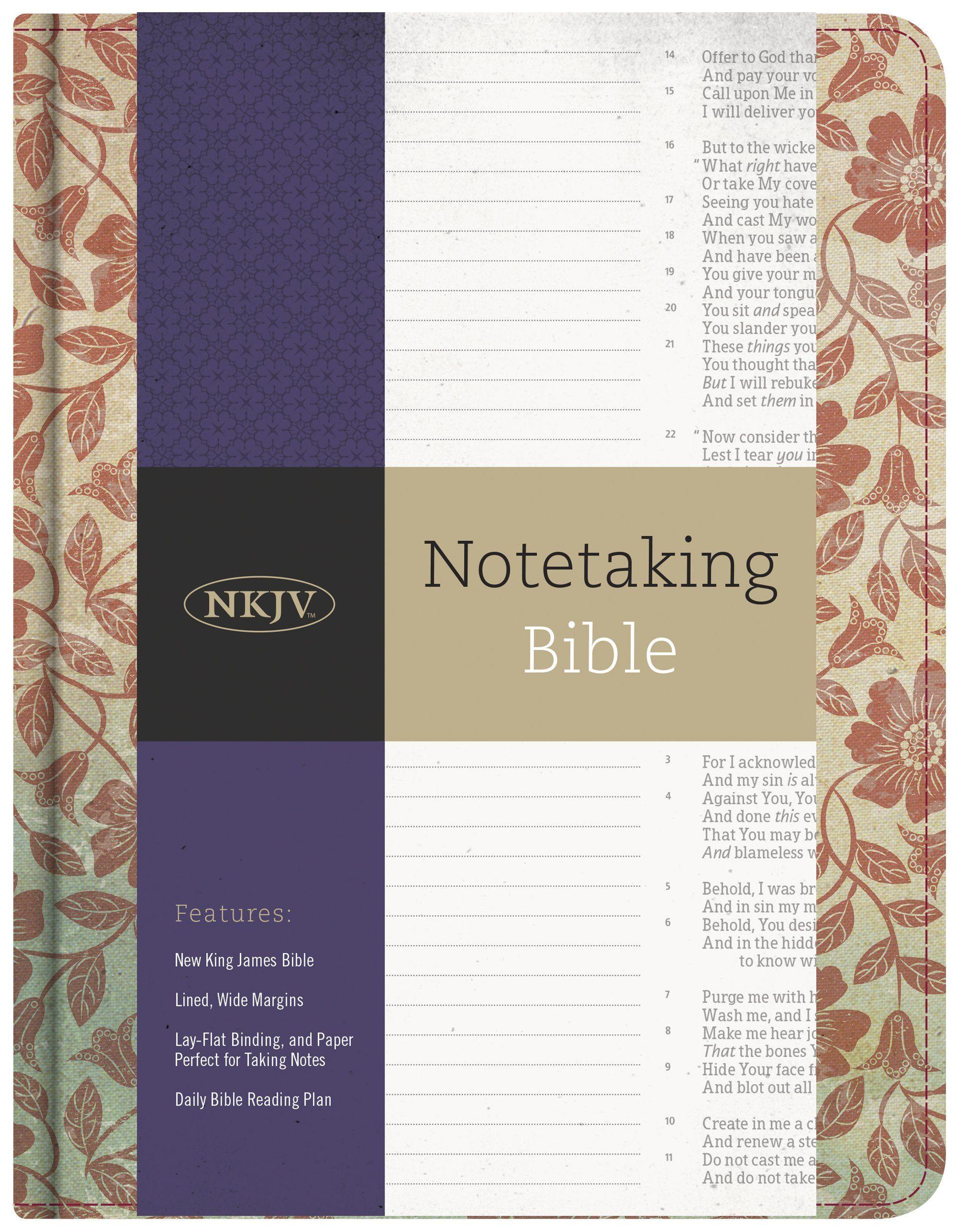 NKJV Notetaking Bible, Red Floral: Holman Bible Staff