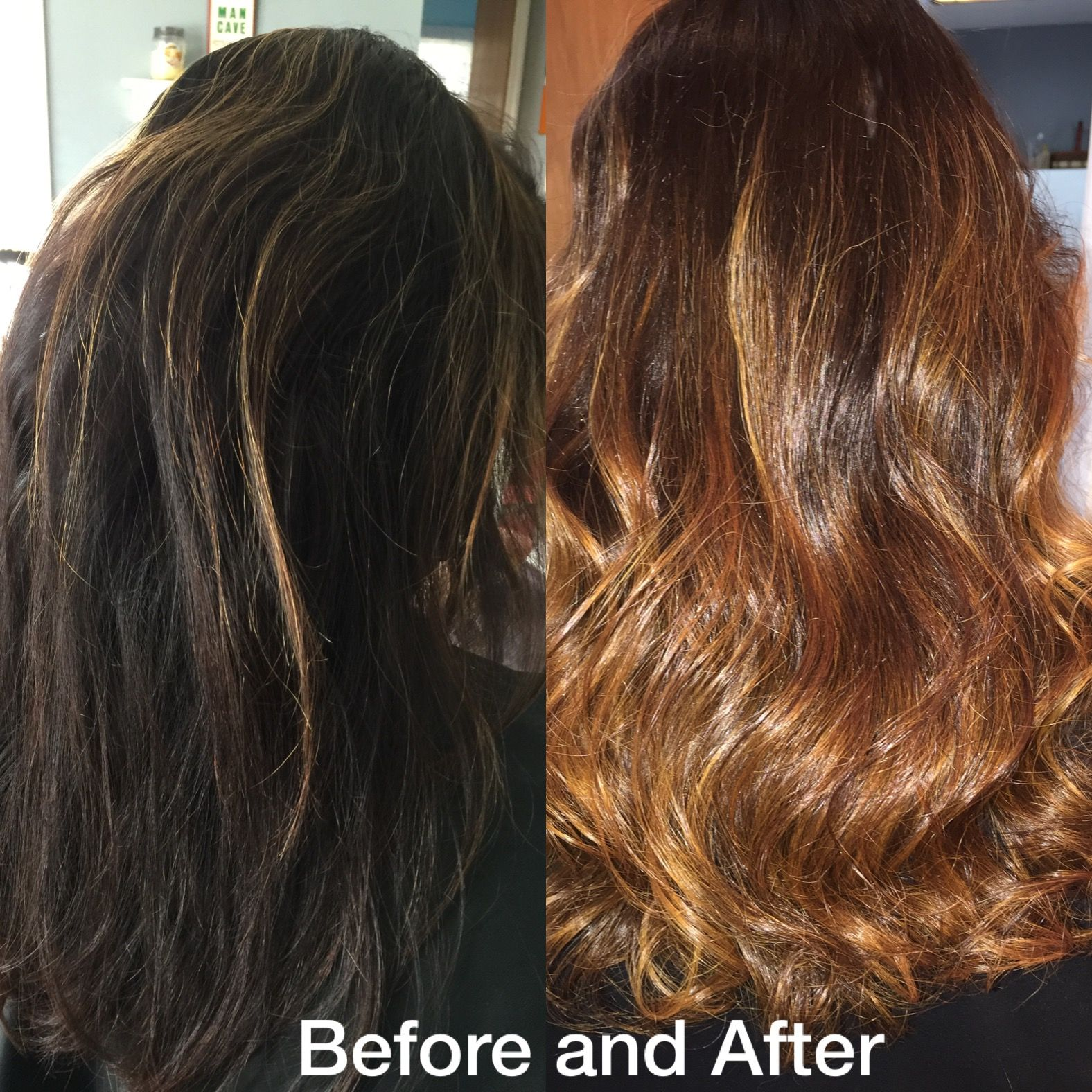 Transformationtuesday hair transformation ombre colormelt
