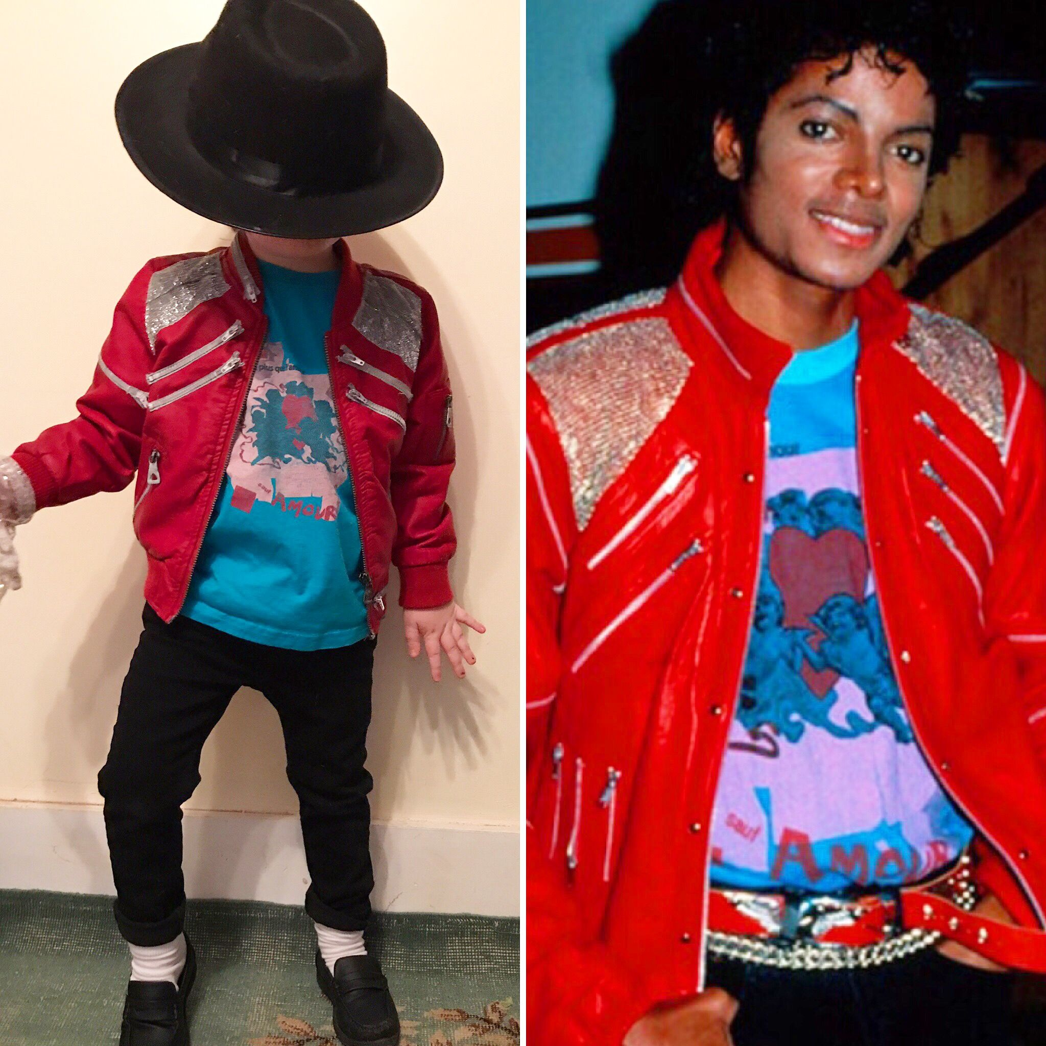 "Michael Jacksons Halloween 2020 Kids Michael Jackson ""Beat it"" Halloween costume DIY | Michael"
