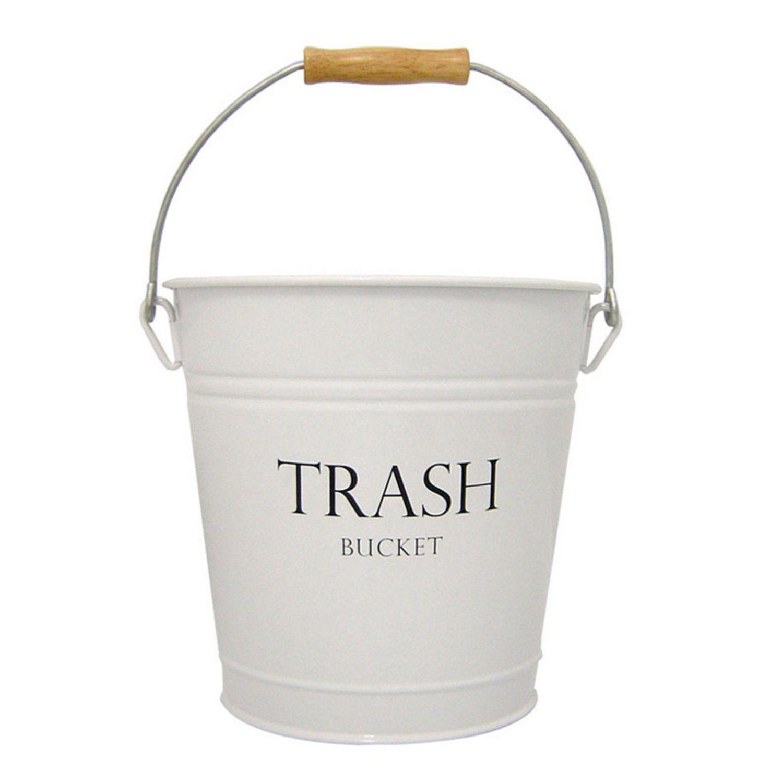 Trash Bucket Inch By Inch By Inch - White bathroom trash can