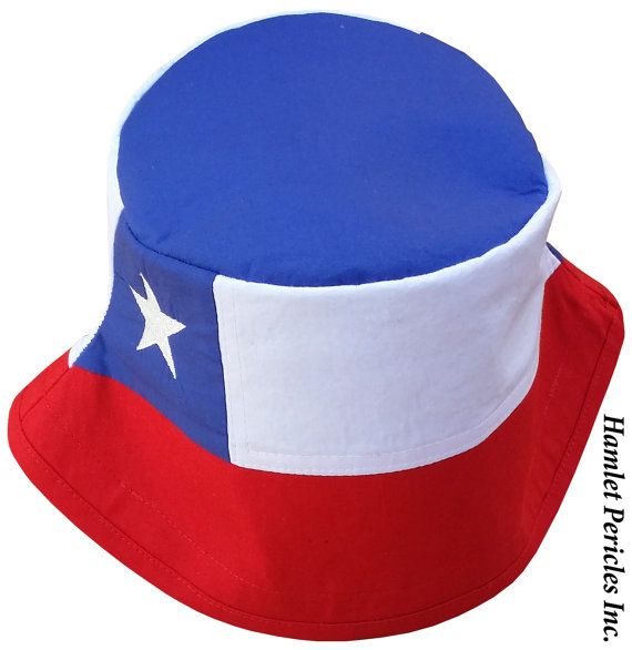 Chile Flag Unisex Bucket Hat | Chilean Flag | Chile Flag | Embroidered Hat | Country Flag Hat | Red
