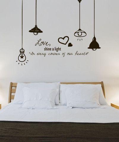 Vinyl Wall Decal Sticker Love Light 1324 Wall Decals For
