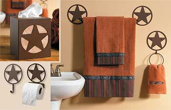 Cowgirl Bath Western Bathroom Decor On Rust Finished Western Star Bath Accessories