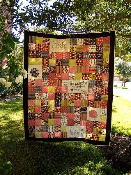 Riley Blake Designs -- Cutting Corners: Blessings Patchwork Indian Summer Quilt Tutorial