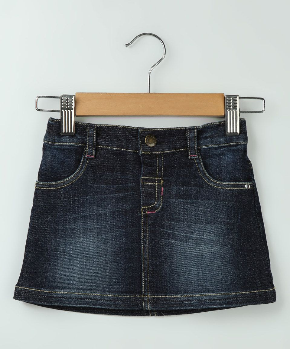 Another great find on #zulily! Denim Blue Circle Skirt - Infant & Kids by Beebay #zulilyfinds