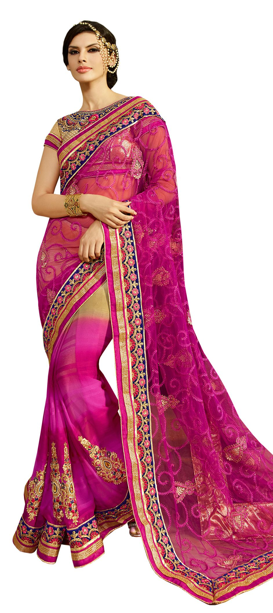 178468: Beige and Brown, Pink and Majenta color family Bridal ...