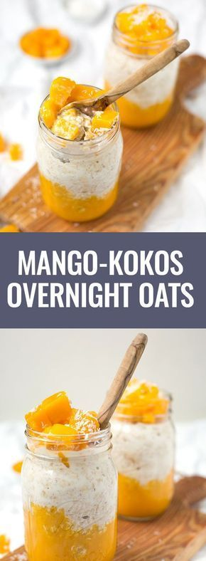 Photo of Mango coconut overnight oats from 5 ingredients – cooking carousel