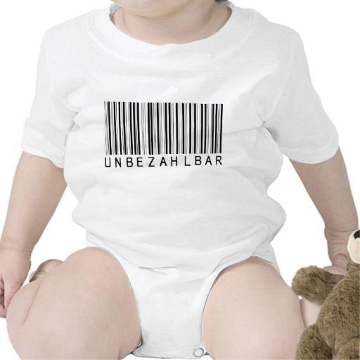 Baby Shirt Barcode black UNBEZAHLBAR | Zazzle.de #babyshirts