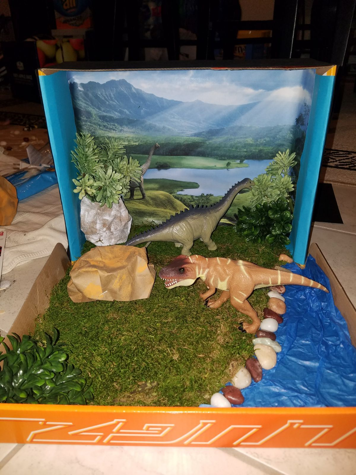Dinosaur Shoebox Project This Was A Fun And Simple Project