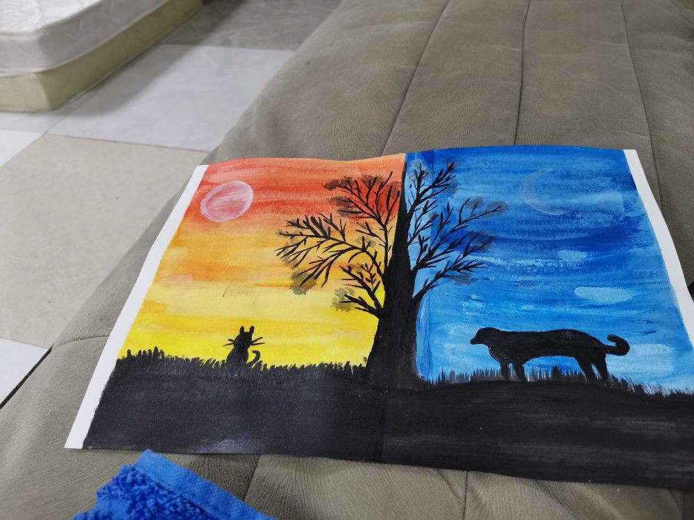 #firstacrylicpainting #lovetopaint #nature