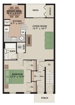 Berkshire Deluxe 1 Bedroom 1 Bathroom First Floor Private Entrance 793 Sq Ft