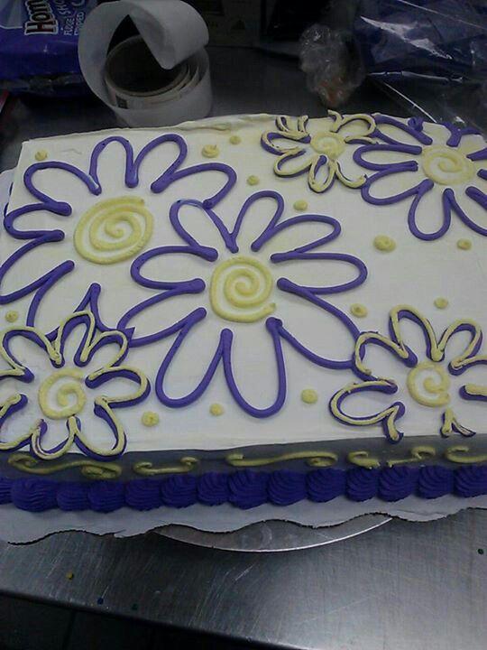 Sheet Cake With Flowers Cake Decorating Pinterest