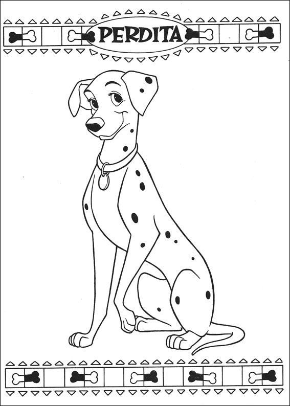 Coloring Page 101 Dalmatians Kids N Fun Fox Coloring Page Cool