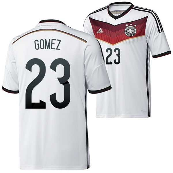 759b42c7e Cheap Adidas Germany (23 Gomez) 2014 World Cup home soccer jerseys design  your own