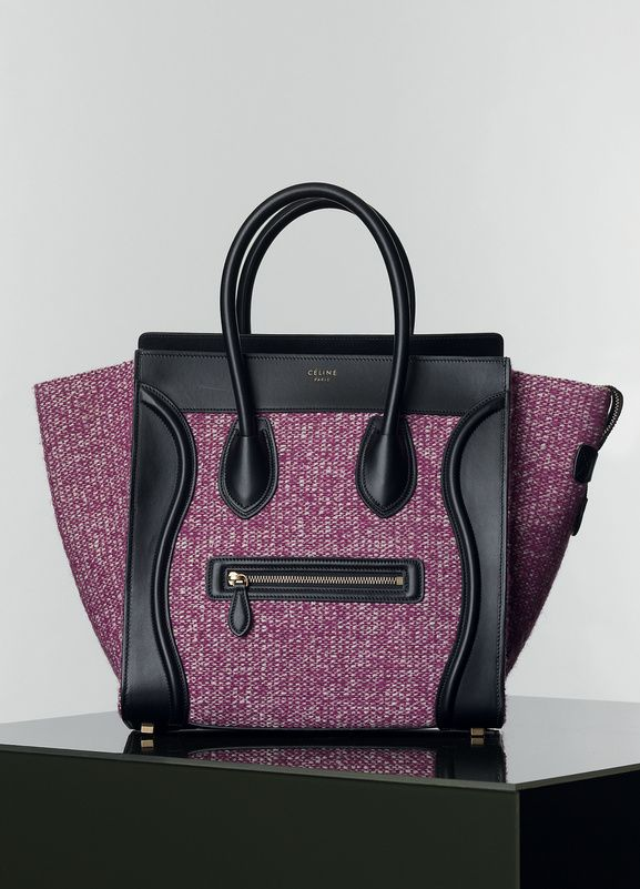 37b51973cd Céline SAC LUGGAGE PETIT MODÈLE MULTICOLORE EN TWEED RAISIN | DrEaM ...