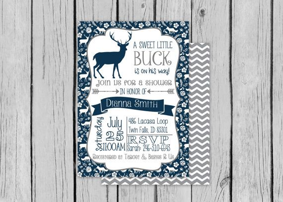 rustic deer baby shower invite, antler baby shower invite, Baby shower invitations