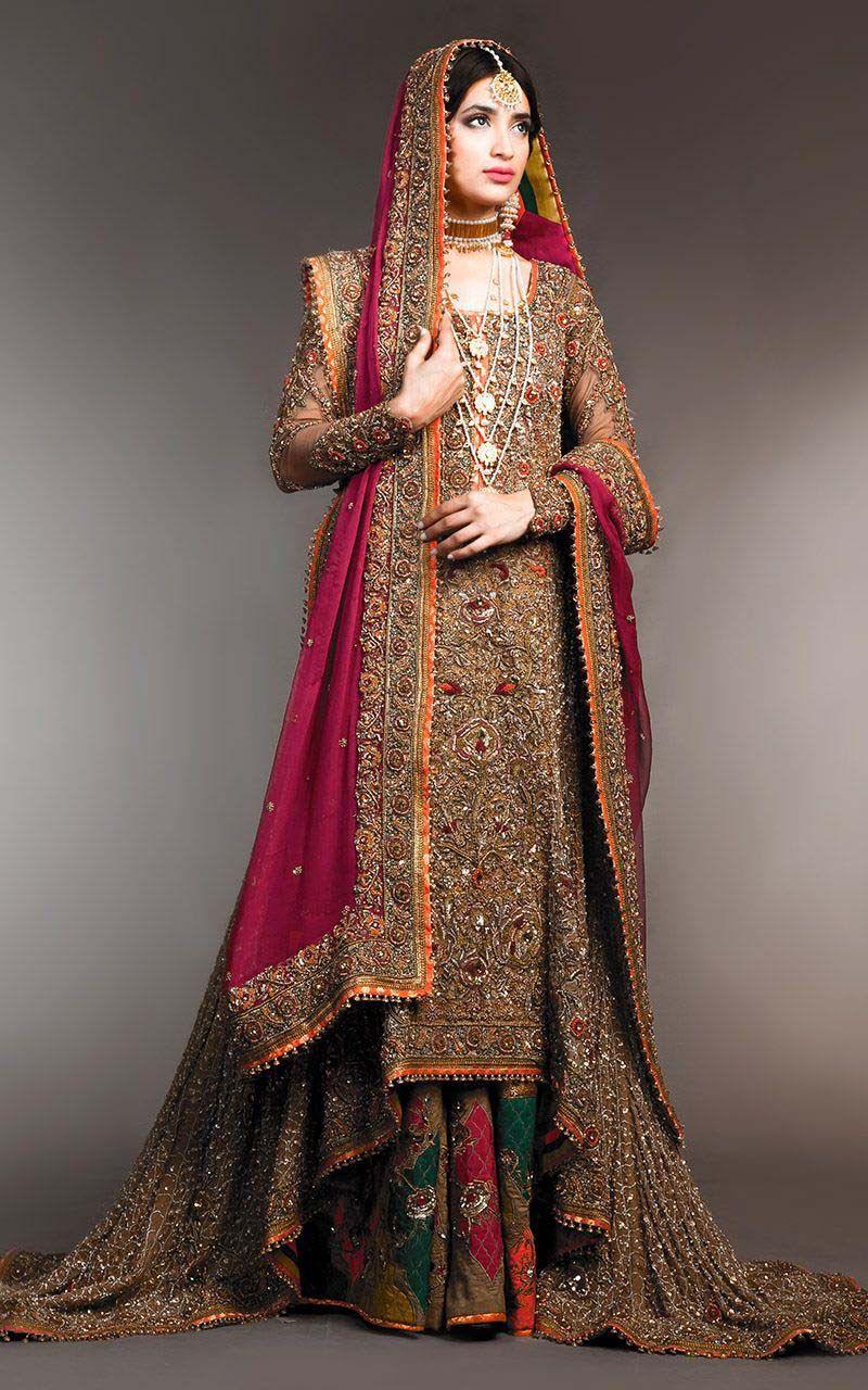 Fahad Hussayn Showcased New Bridal Dresses Collection 2015 At Telenor Pakistan Fashion Week