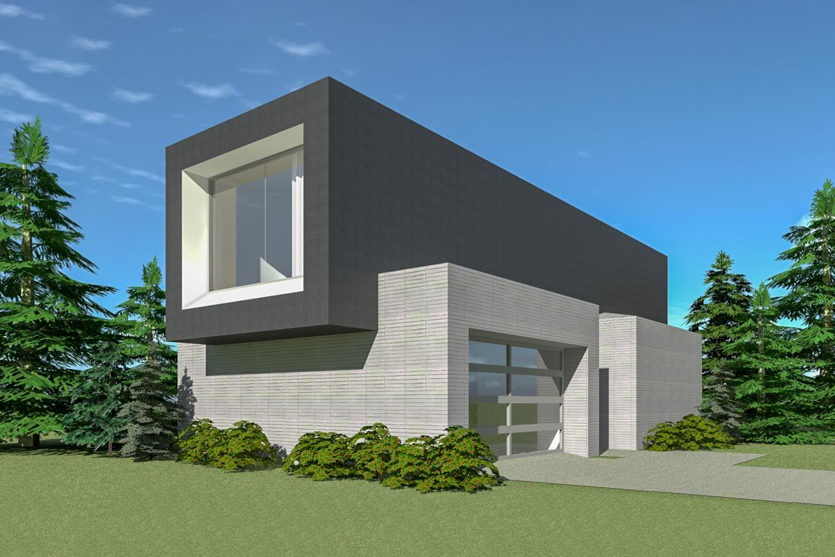 This 2 bed modern house plan has the