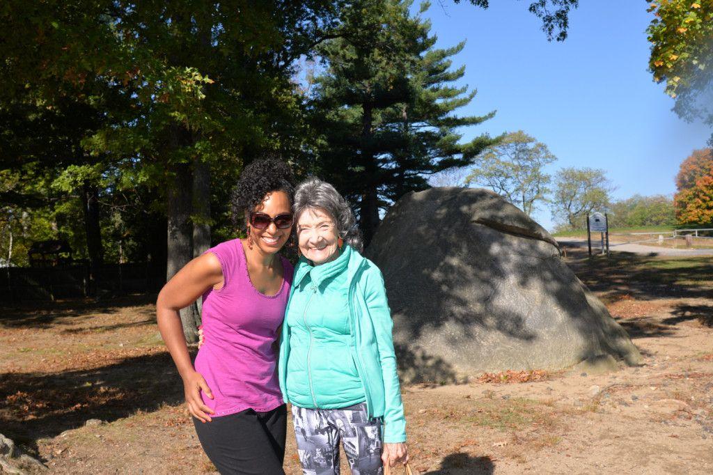 Teresa Kay-Aba Kennedy and 96-year-old yoga master Tao Porchon-Lynch, October 2014