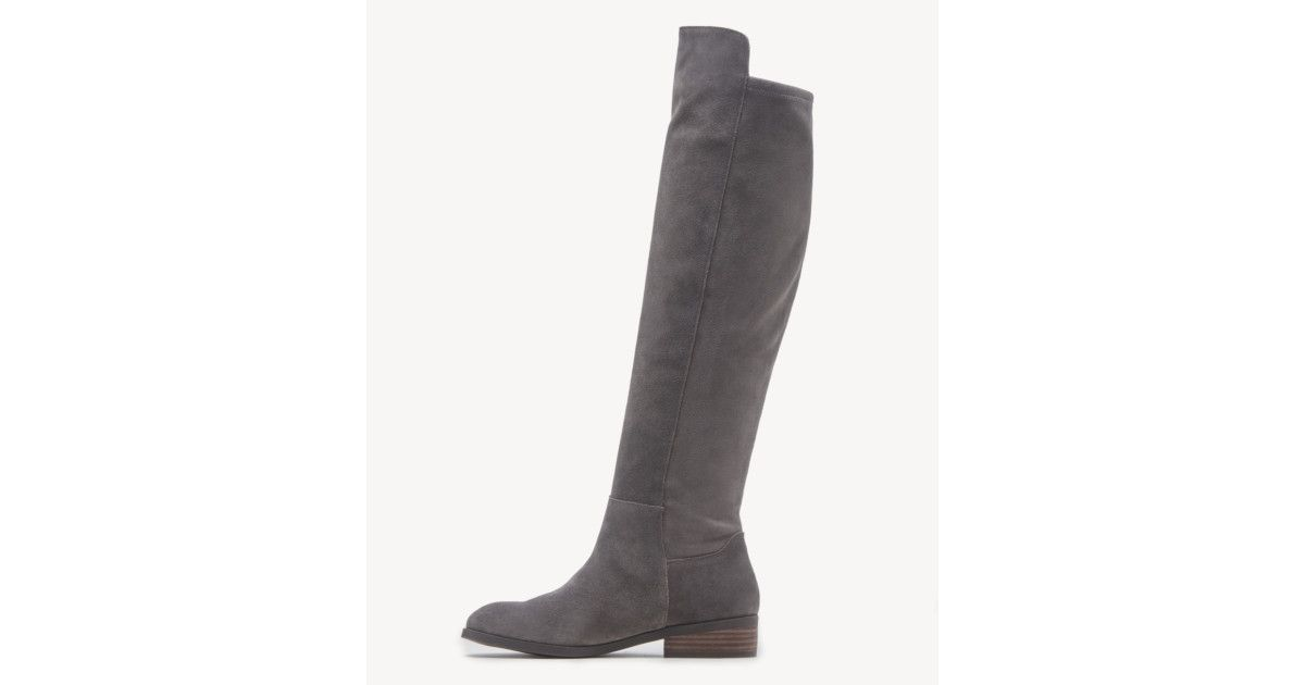Please note: There are no differences in product between colorways with numbers. - Women's Calypso Tall Boots Greystone | Size 6.5 Suede From Sole Society