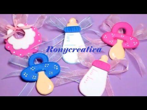 Cómo Hacer Hermosos Distintivos Para BABY SHOWER / Babyshower Souvenirs DIY    YouTube