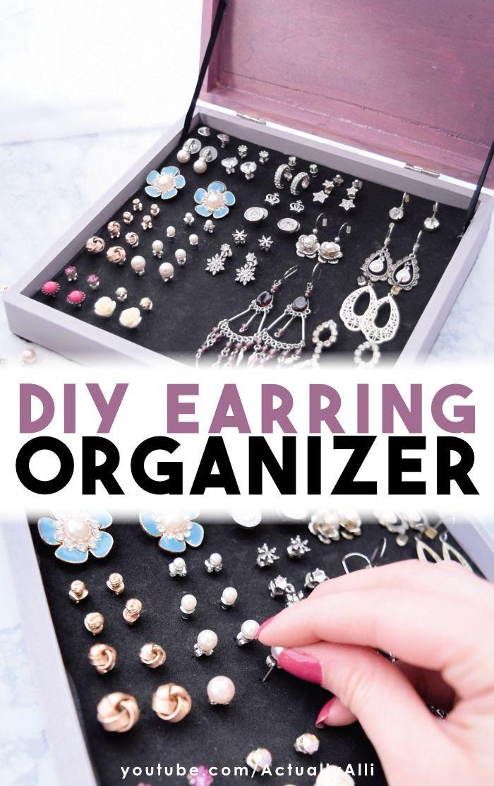 DIY Ohrring Veranstalter | Eine einfache Lösung für die Aufbewahrung von Ohrringen PLUS 2 wei…