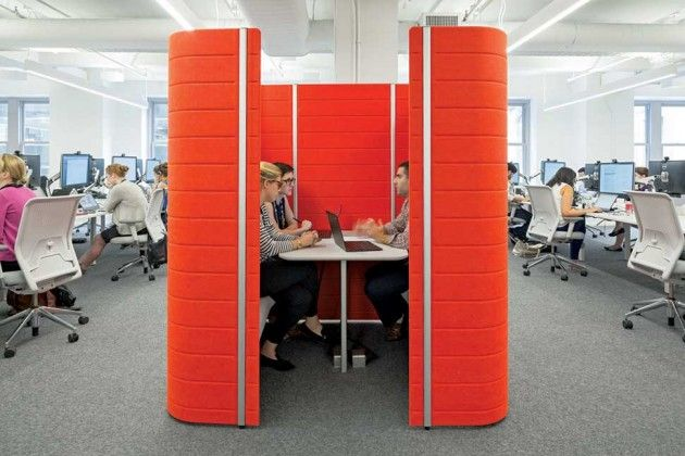 Cozy In Your Cubicle An Office Design Alternative May Improve Efficiency Office Cubicle Design Office Design Innovative Office