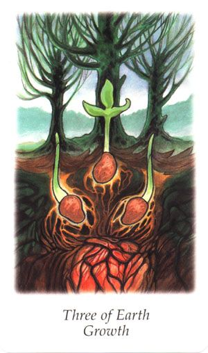 Vision Quest Tarot ► Three of Earth Growth