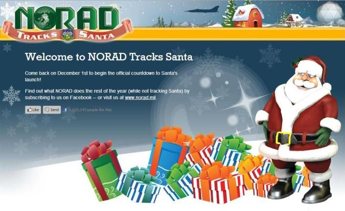 NORAD TRACKS SANTA Kids can go to the website on December