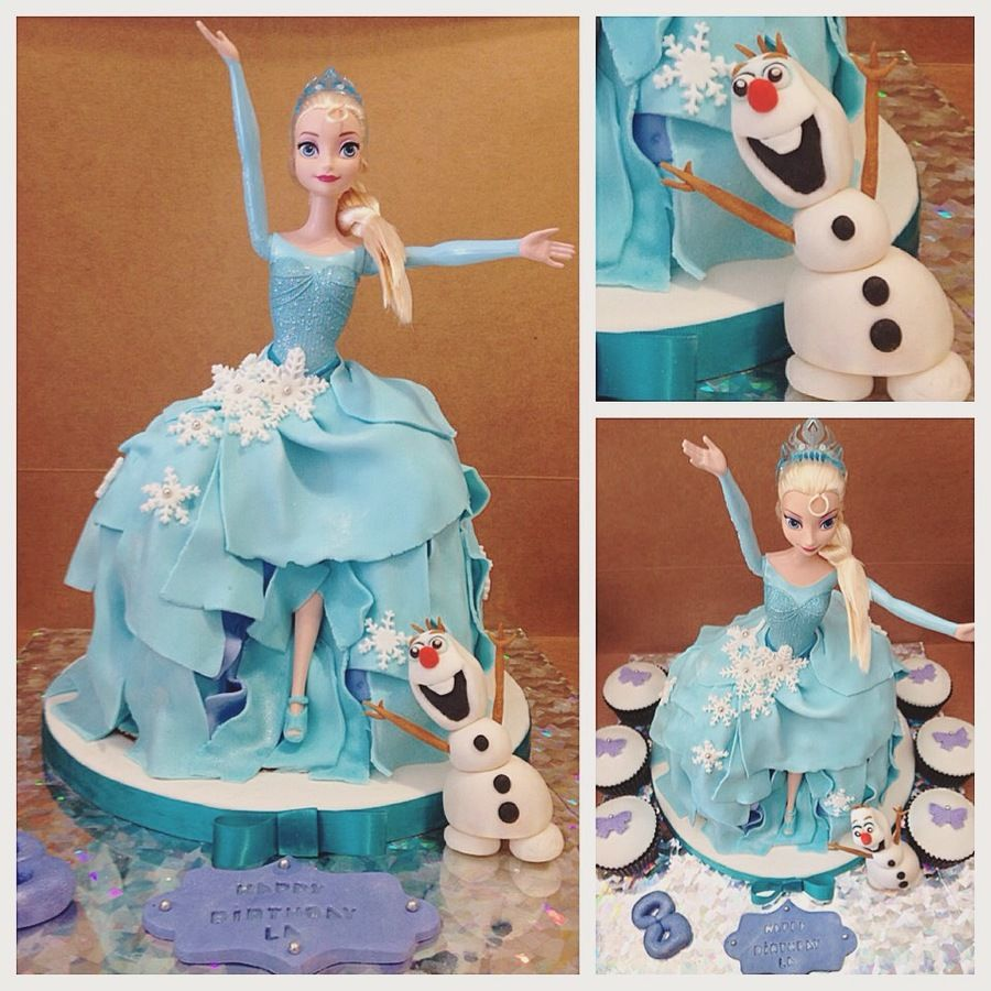 Elsa Doll Cake Decoration : Frozen doll cake Elsa Frozen Pinterest Frozen doll ...