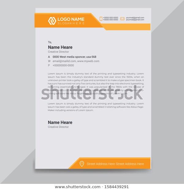 creative modern business letterhead design template stock great resume examples 2019 engineering student objective teachers sample for dubai