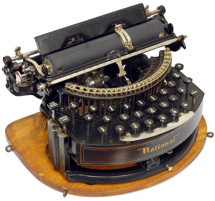 national 1889 national typewriter co philadelphia 1889 serial vintage. Black Bedroom Furniture Sets. Home Design Ideas