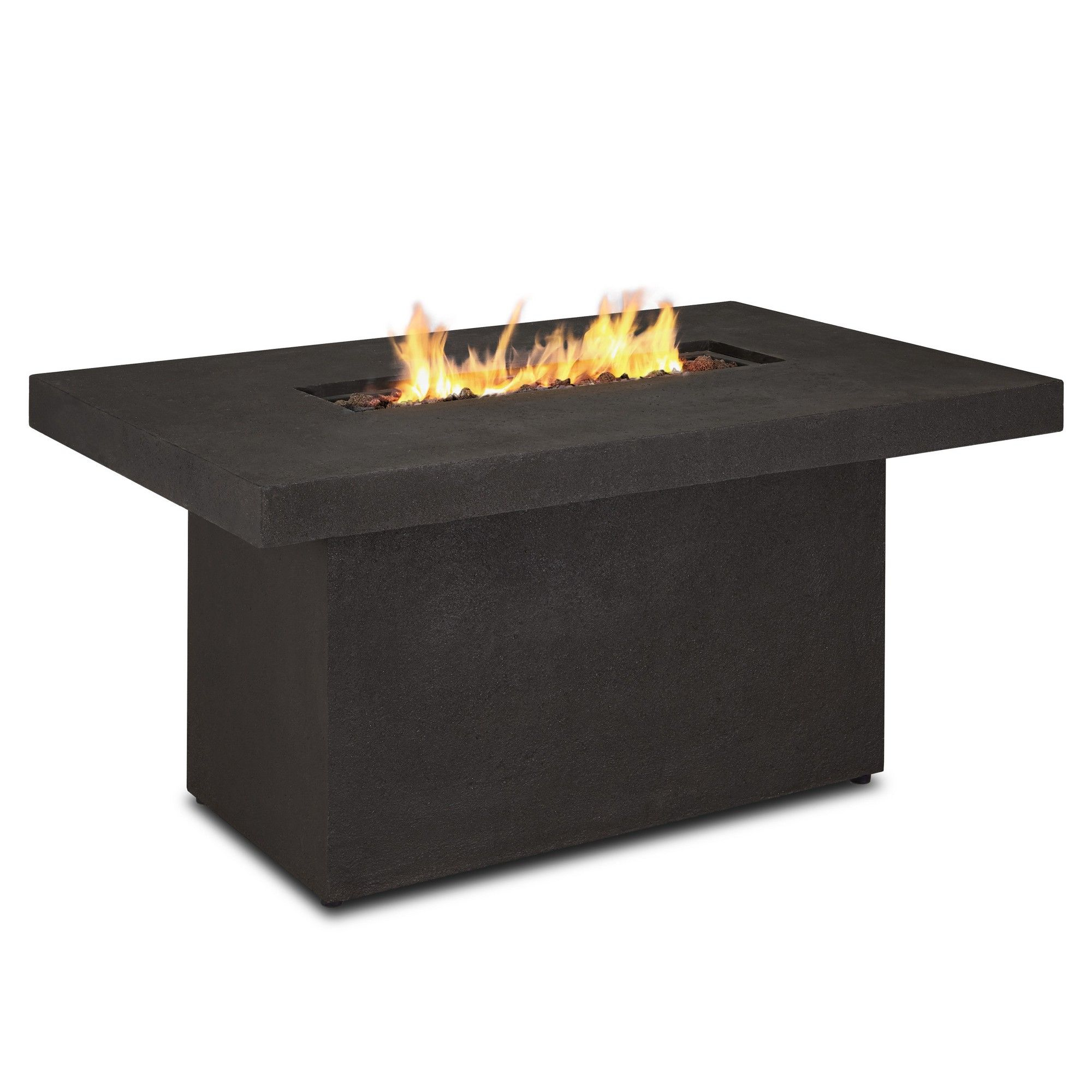 ventura 49 rectangle gas fire table with natural gas conversion kit