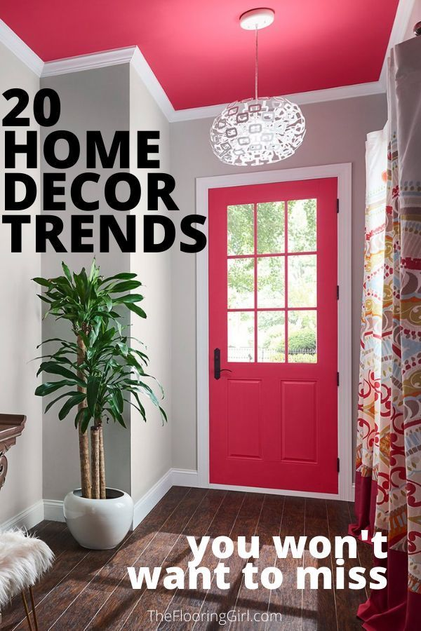 20 Home decor Trends you won't want to miss.  #homedecor #diy #decorating #diyhomedecor
