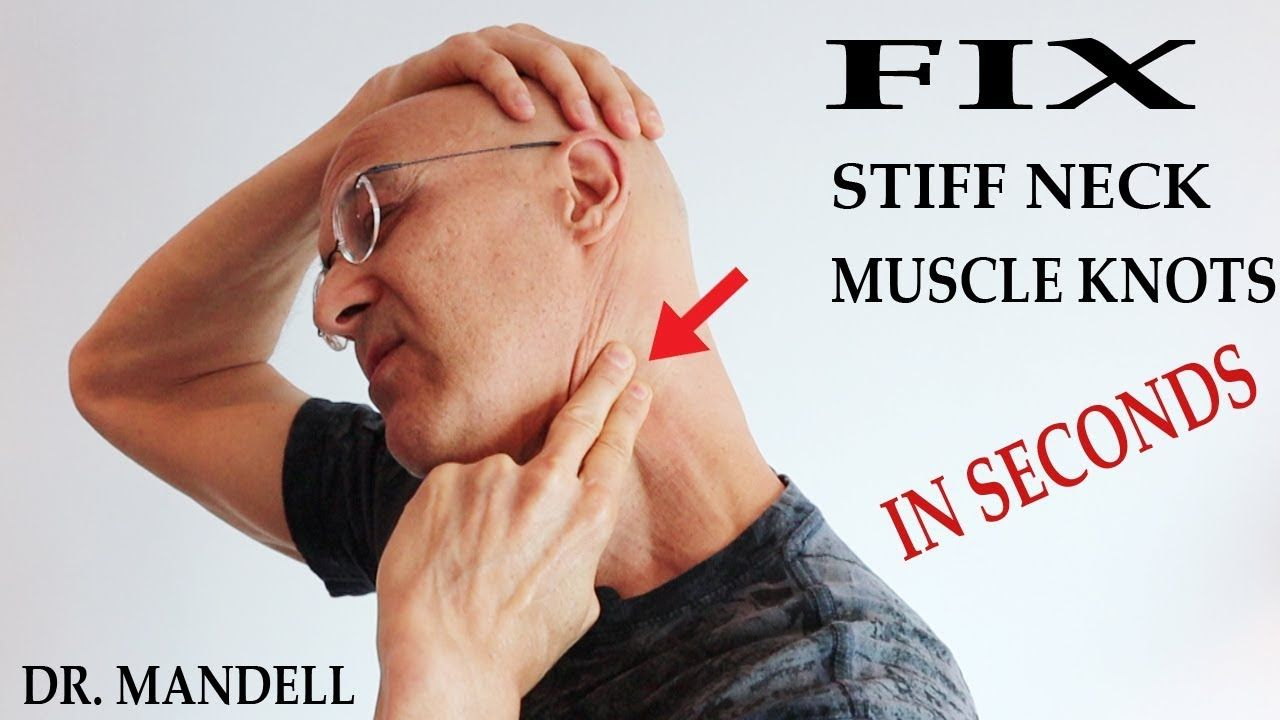 Fix Stiff Neck And Muscle Tension Knots In Seconds Dr Alan