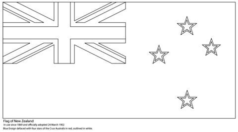 flag of new zealand coloring page new zealand flag flag