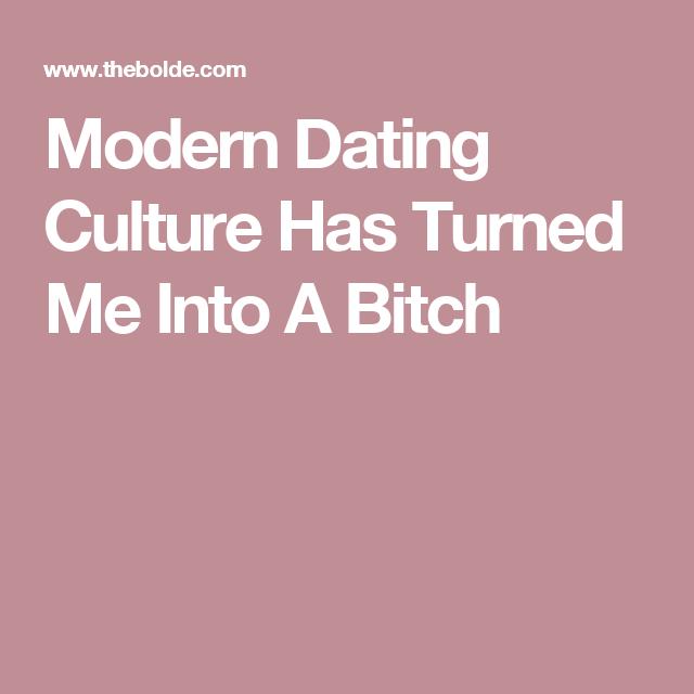 Modern dating customs