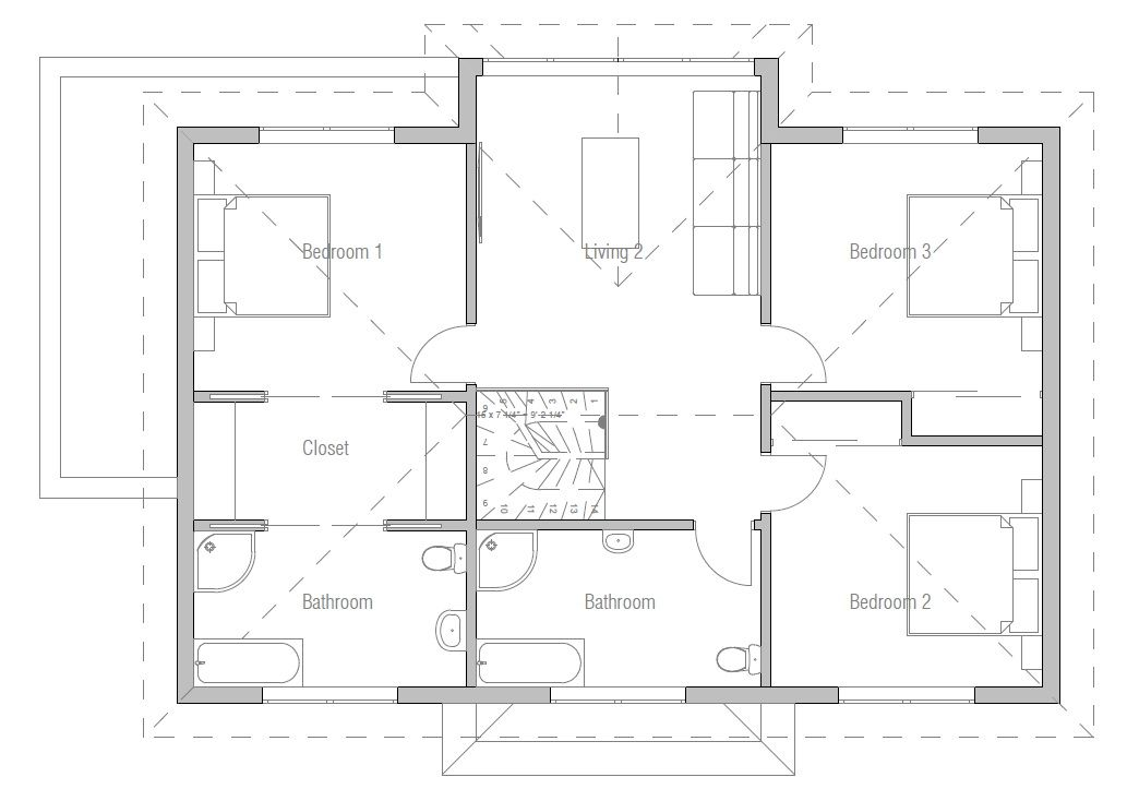 House Plan Ch174 House Plans Modern House Two Story House Plans
