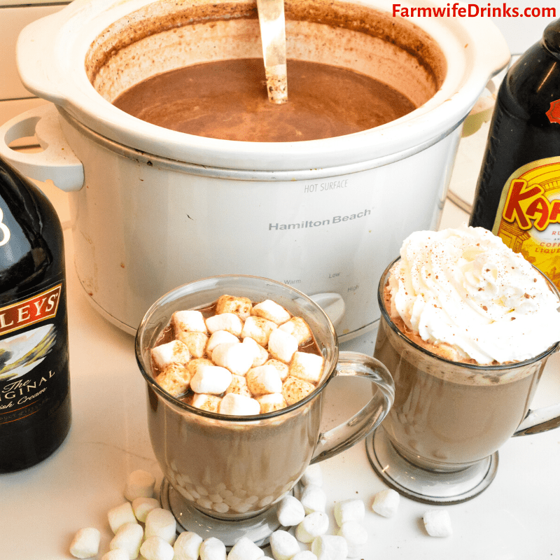 Crock Pot Hot Chocolate Is A Rich Hot Chocolate That Melts Chocolate Chips Sweetened Co Crockpot Hot Chocolate Crock Pot Hot Chocolate Recipe Hot Cocoa Recipe