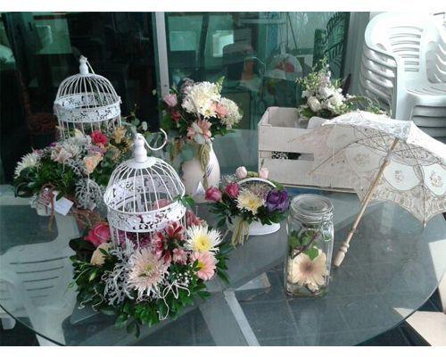 Centros de mesa para quince a os elegantes google search - Decoracion fiesta jardin ...