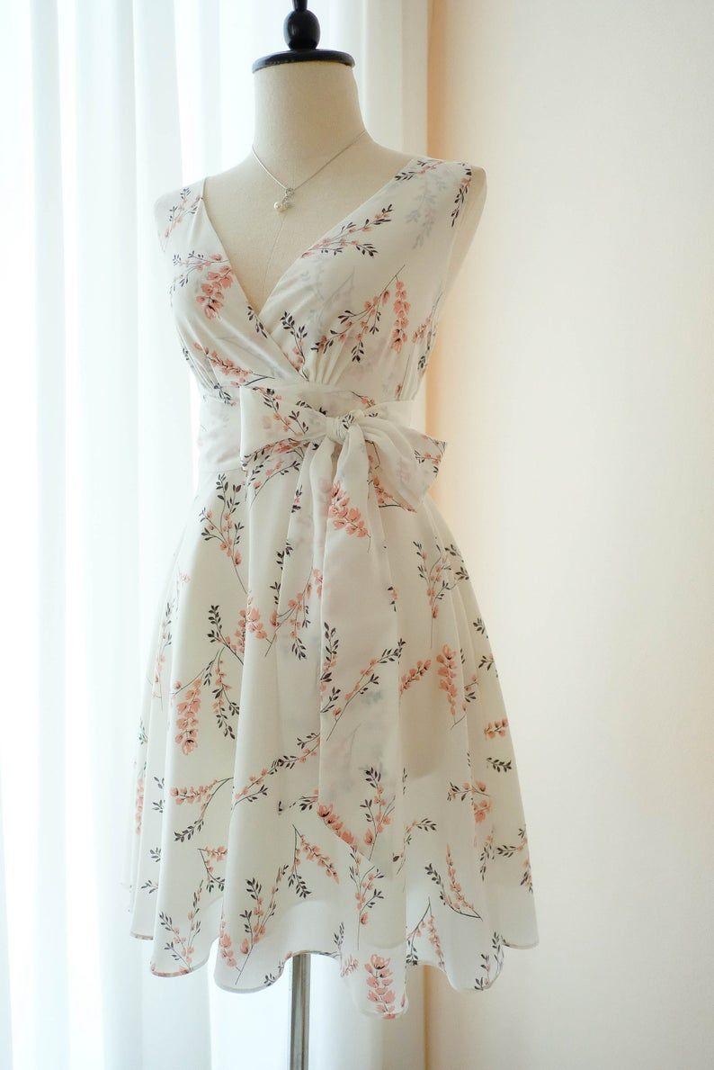 Weiß Floral weiß Brautjungfer Kleid Blumen Vintage Kleid  Etsy in