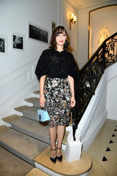 Marion Cotillard attends the Christian Dior Haute Couture Fall/Winter 2016-2017 show as part of Paris Fashion Week at 30, Avenue Montaigne on July 4, 2016 in Paris, France.