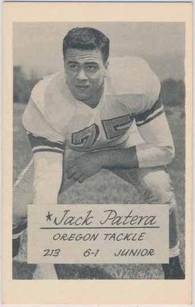 Oregon Junior Tackle Jack Patera 1953 Trading Card Www Sportingoregon Com Vintage Football Cards Baseball Cards