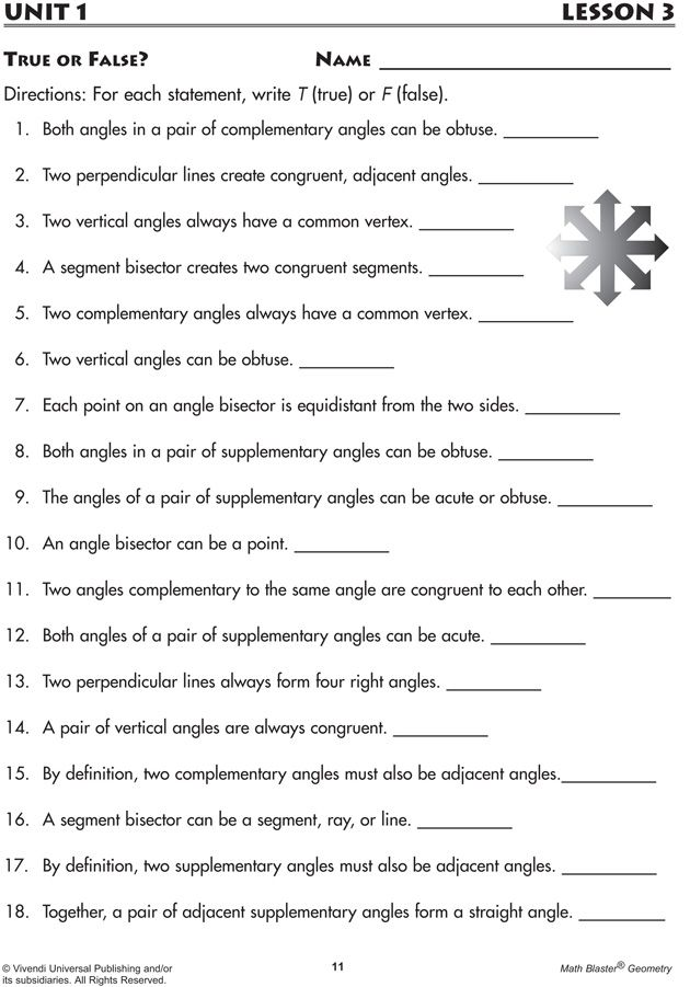 Lines and Angles | Education ~ Worksheets Already Made | Pinterest ...